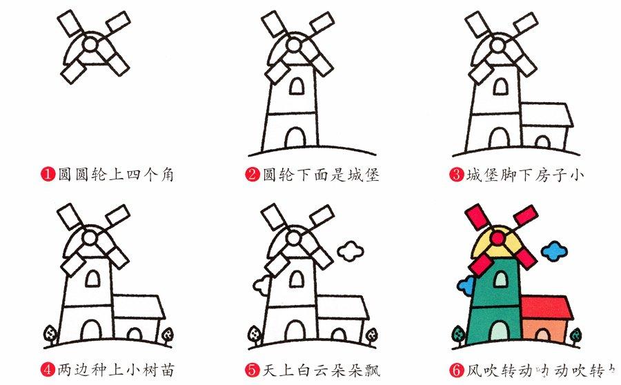 风车简笔画画法