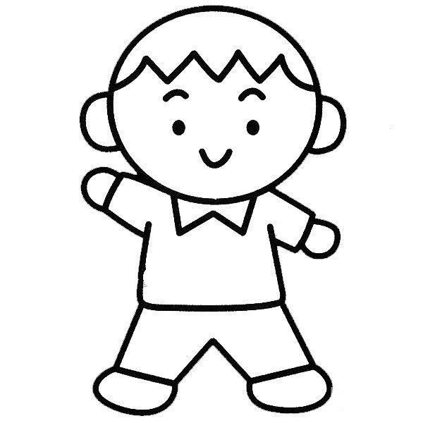 小男孩简笔画图片