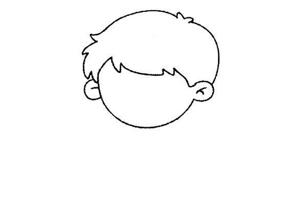 2.画出短发。