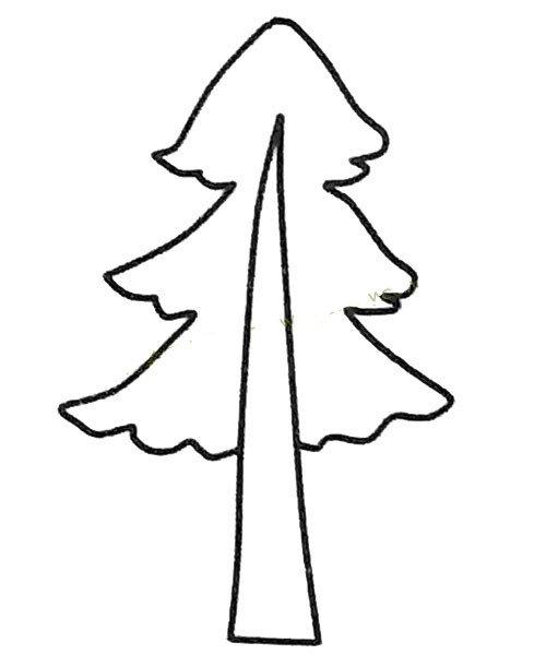 儿童简笔画大全 松树简笔画图片