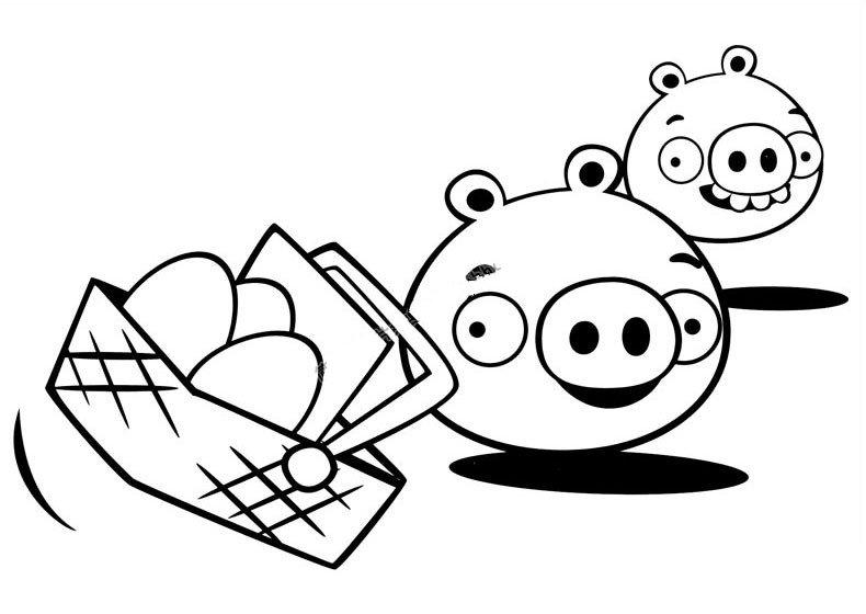 肥猪偷蛋简笔画3