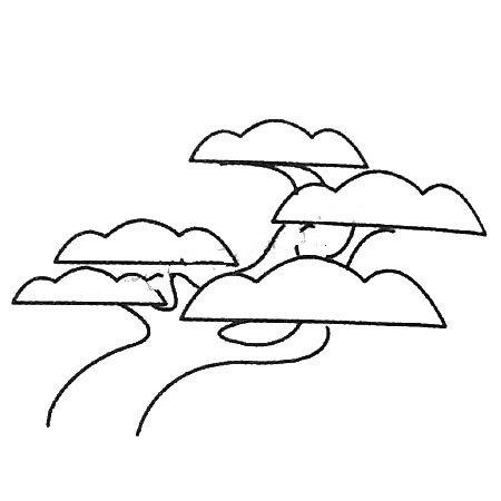 漂亮的松树简笔画图片