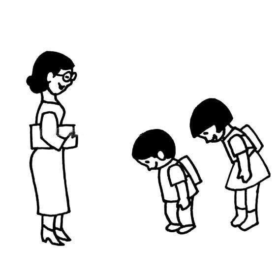 感恩老师简笔画图片