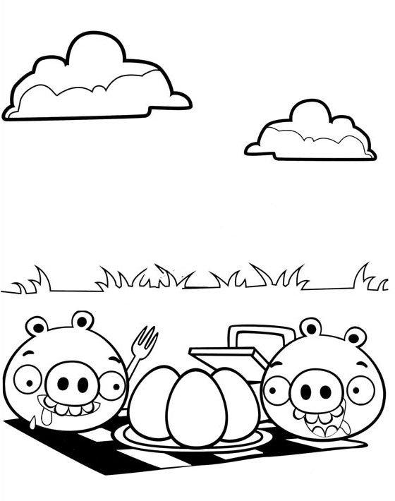 肥猪偷蛋简笔画1