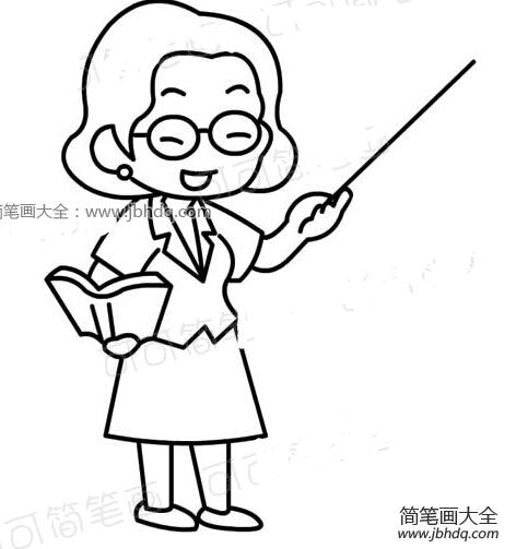 在上课的女老师