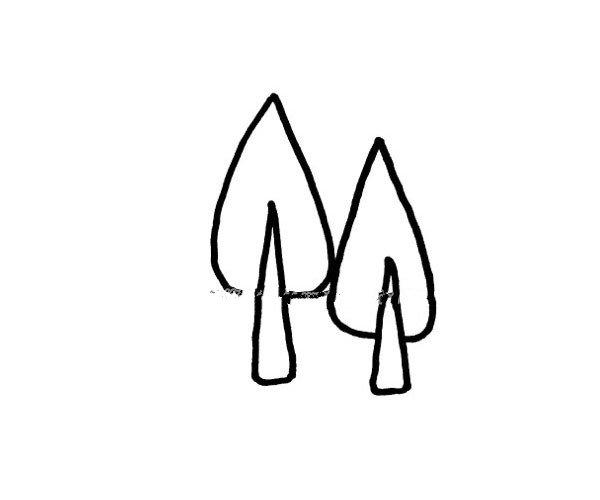 松树简笔画图片1