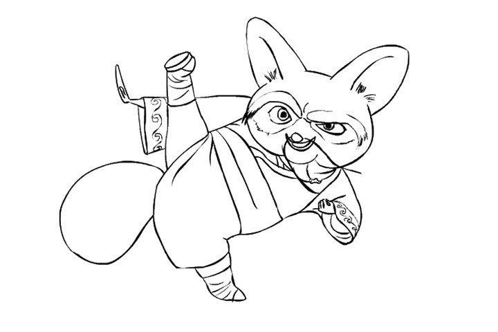功夫熊猫中的师傅简笔画2