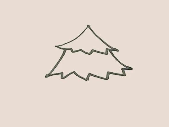 简笔画松树