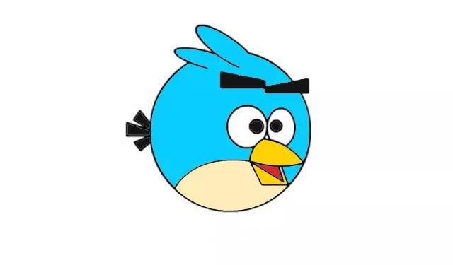 简笔画教程:画愤怒的小鸟