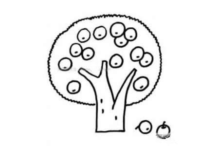 简笔画苹果树图片