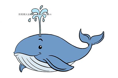 如何画鲸鱼