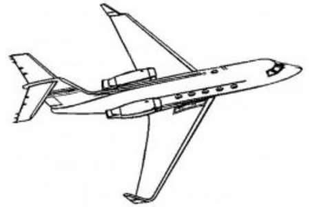 起飞的飞机简笔画图片