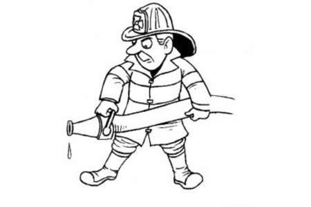 国外消防员简笔画