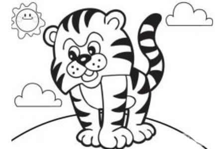 生气的小老虎简笔画画法