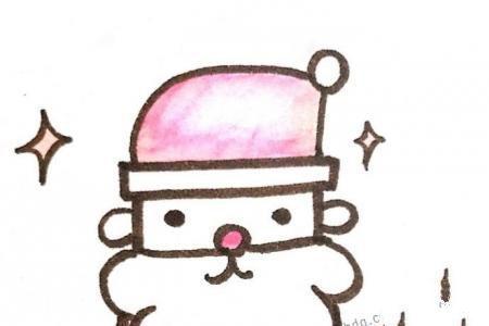 夜晚的圣诞老人简笔画图片
