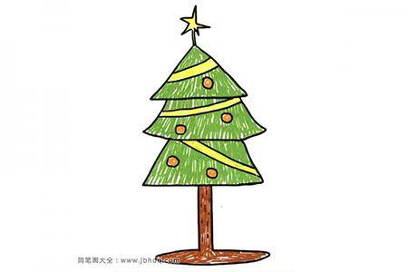 三角形和梯形的组合圣诞树