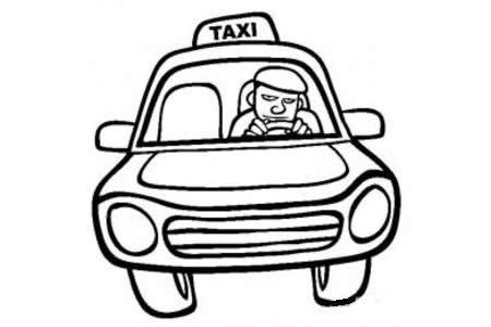 人物简笔画 出租车司机简笔画图片