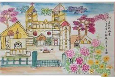 美丽的教堂,基督教建筑国画