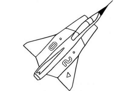 飞机简笔画大全 萨博-35战斗机