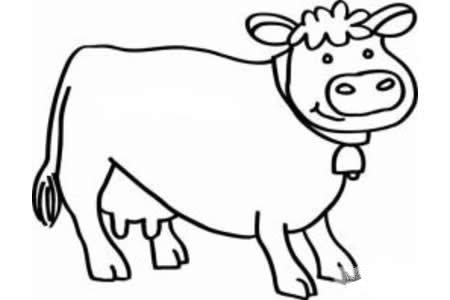 儿童奶牛简笔画图片