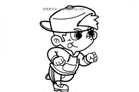 跑步小男孩