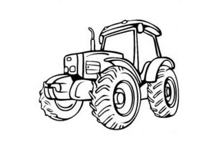拖拉机图片 拖拉机简笔画图片
