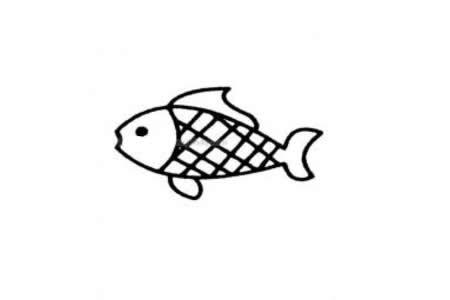 超简单鱼的简笔画