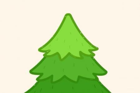 神奇简笔画 松树