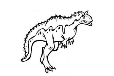 恐龙图片大全 食肉牛龙简笔画图片