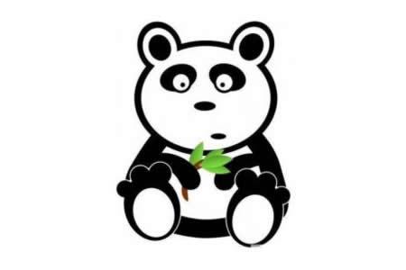 可爱大熊猫简笔画图片