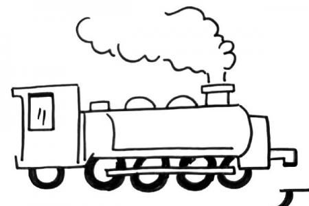 交通工具蒸汽小火车