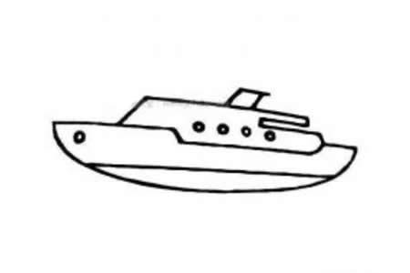 幼儿轮船简笔画图片