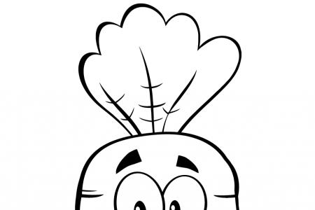 开心的卡通胡萝卜