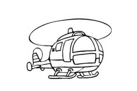 高飞的直升机简笔画