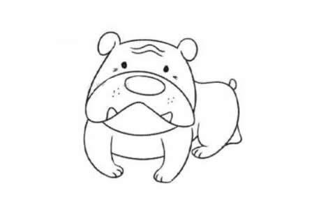 凶猛的猎犬简笔画
