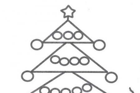 简单漂亮的圣诞树简笔画
