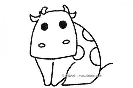 四步学画奶牛