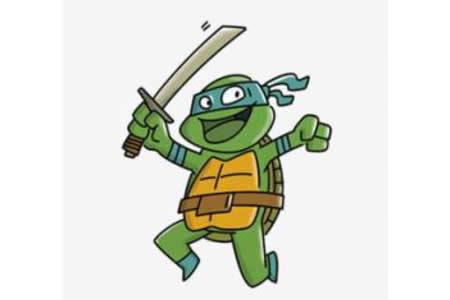 忍者神龟简笔画画法