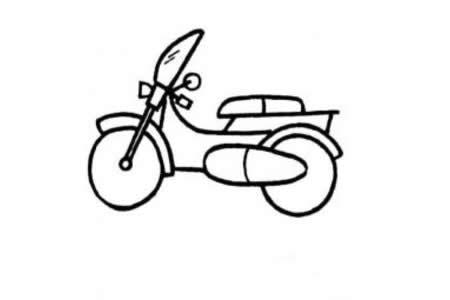 如何画摩托车