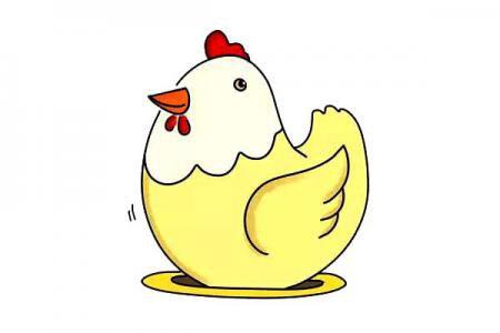 母鸡简笔画