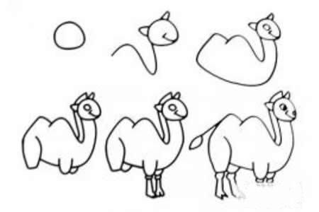 几部轻松画骆驼