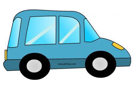 简单的小轿车简笔画带颜色