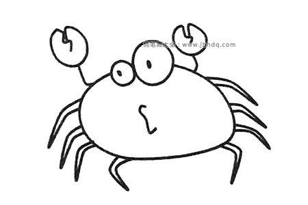 卡通螃蟹简笔画图片大全