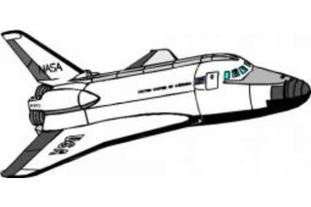 交通工具简笔画 宇宙飞船简笔画图片