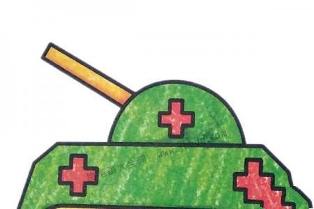 简单的坦克简笔画图片