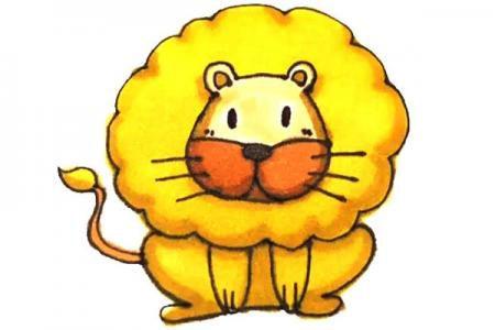 儿童轻松学画狮子