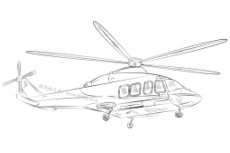 如何画直升机