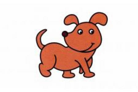 小狗简笔画画法