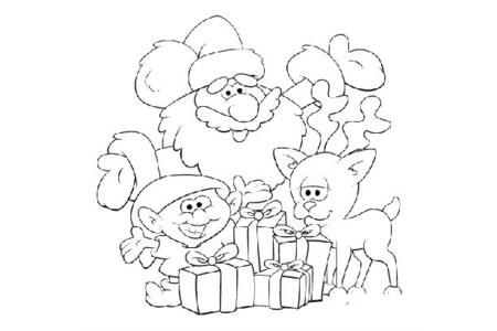 圣诞老人和孩子