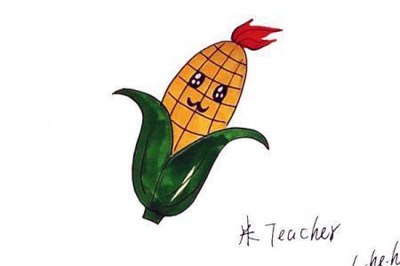 卡通玉米怎么画